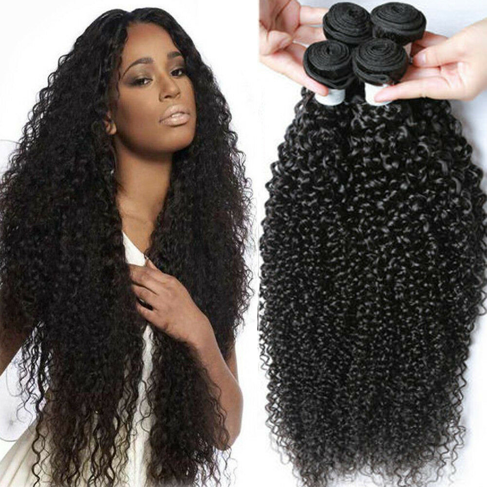 Us 3 Bundles 300g Kinky Curly Weave Virgin Human Hair 100