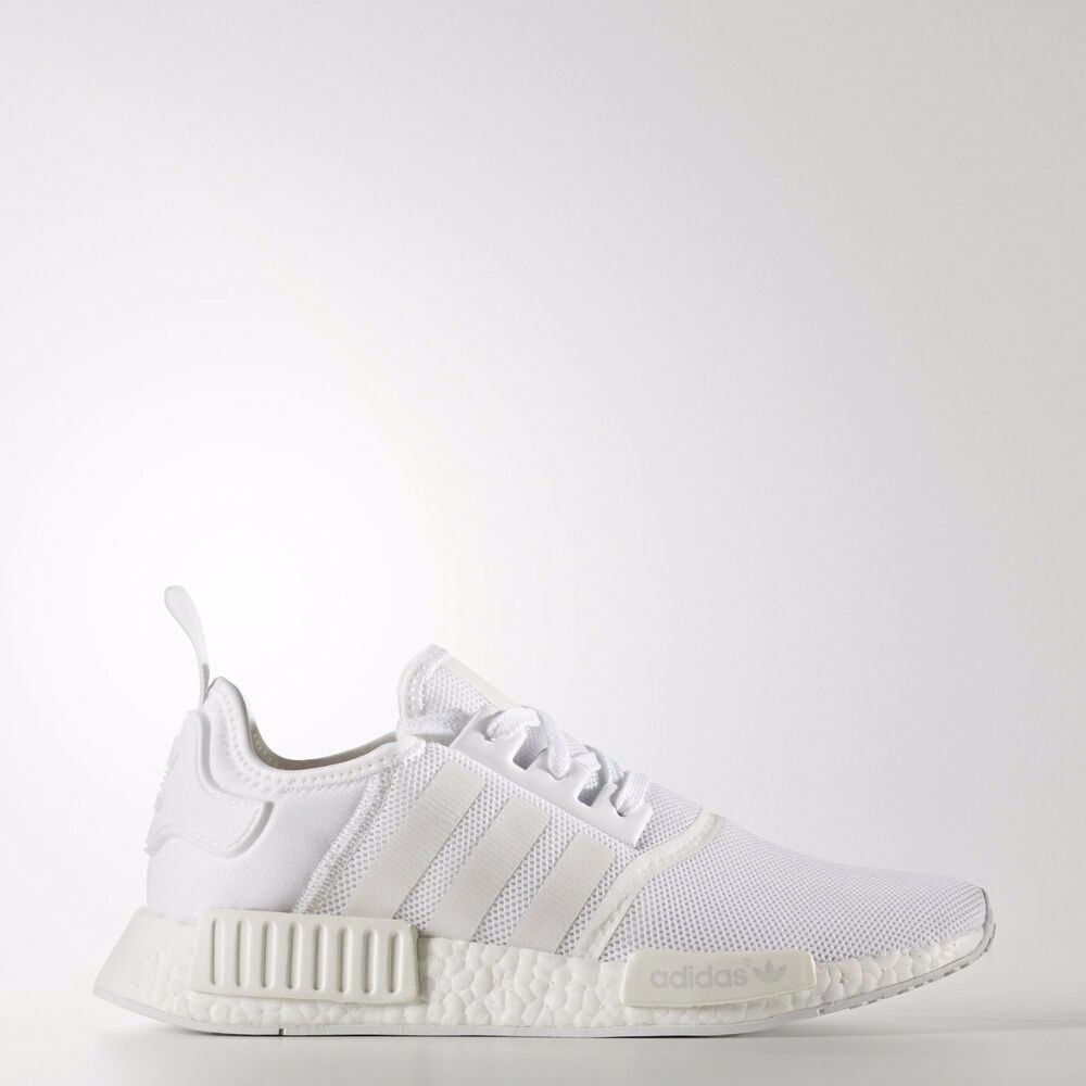 adf3dc493 ADIDAS NMD R1 TRIPLE WHITE RUNNING SNEAKERS BA7245 US