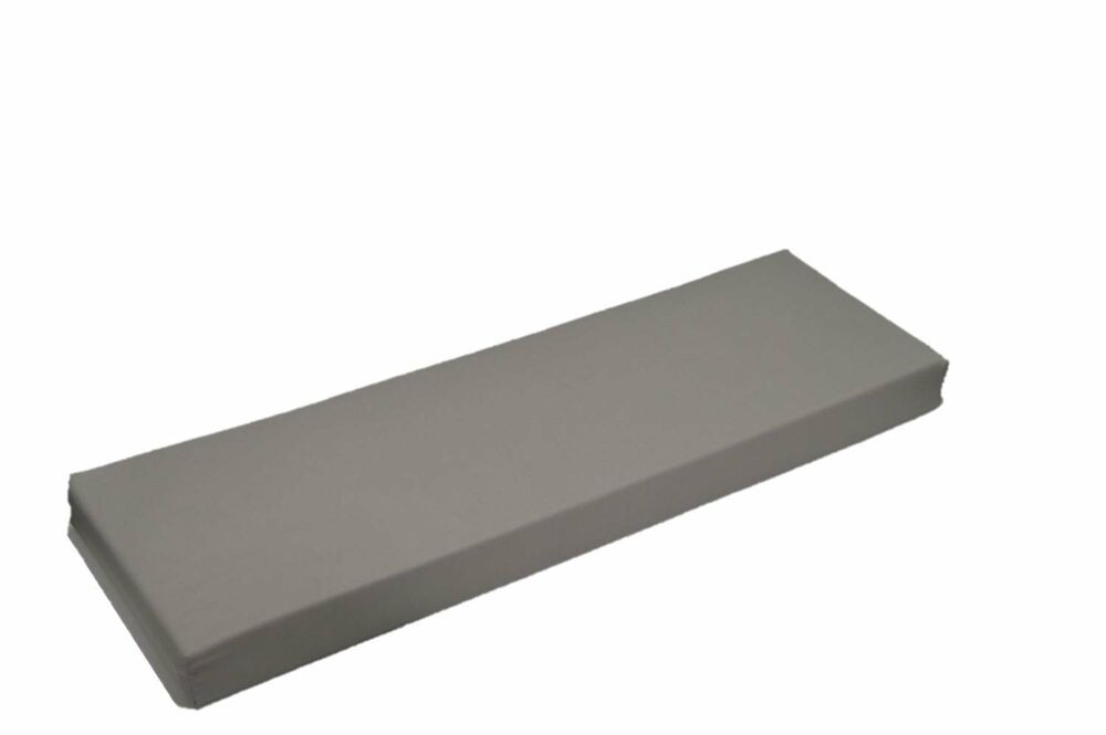 In Outdoor Solid Dove Gray Foam Cushion For Bench