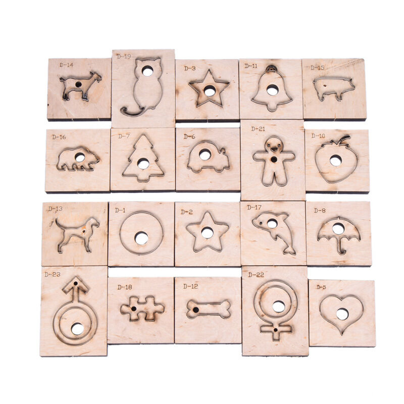 Animal shape leather craft punch cutting mould template for Leather shapes for crafts