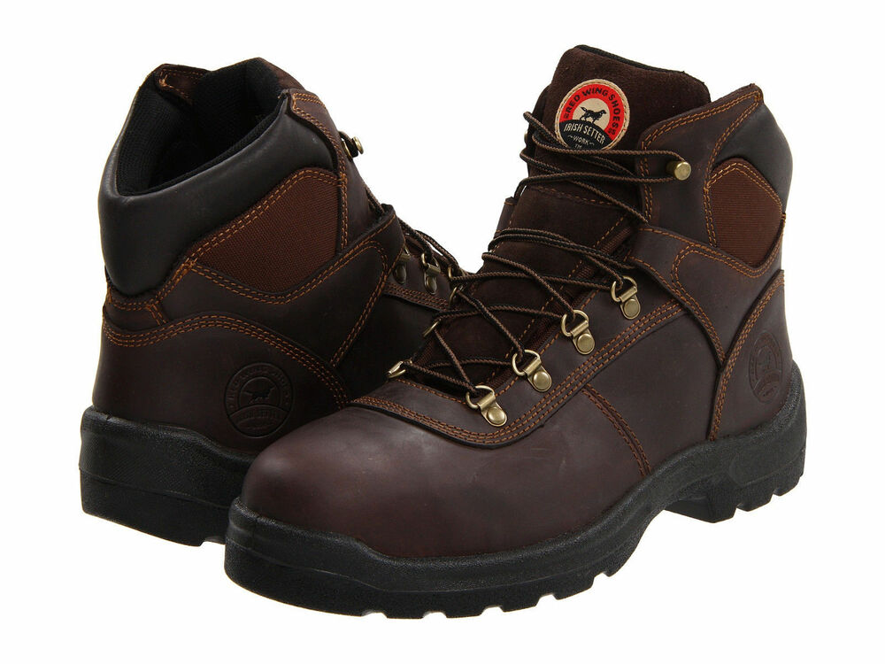 Red Wing Mens Irish Setter 6 Inch Mocha Ch Leather Steel