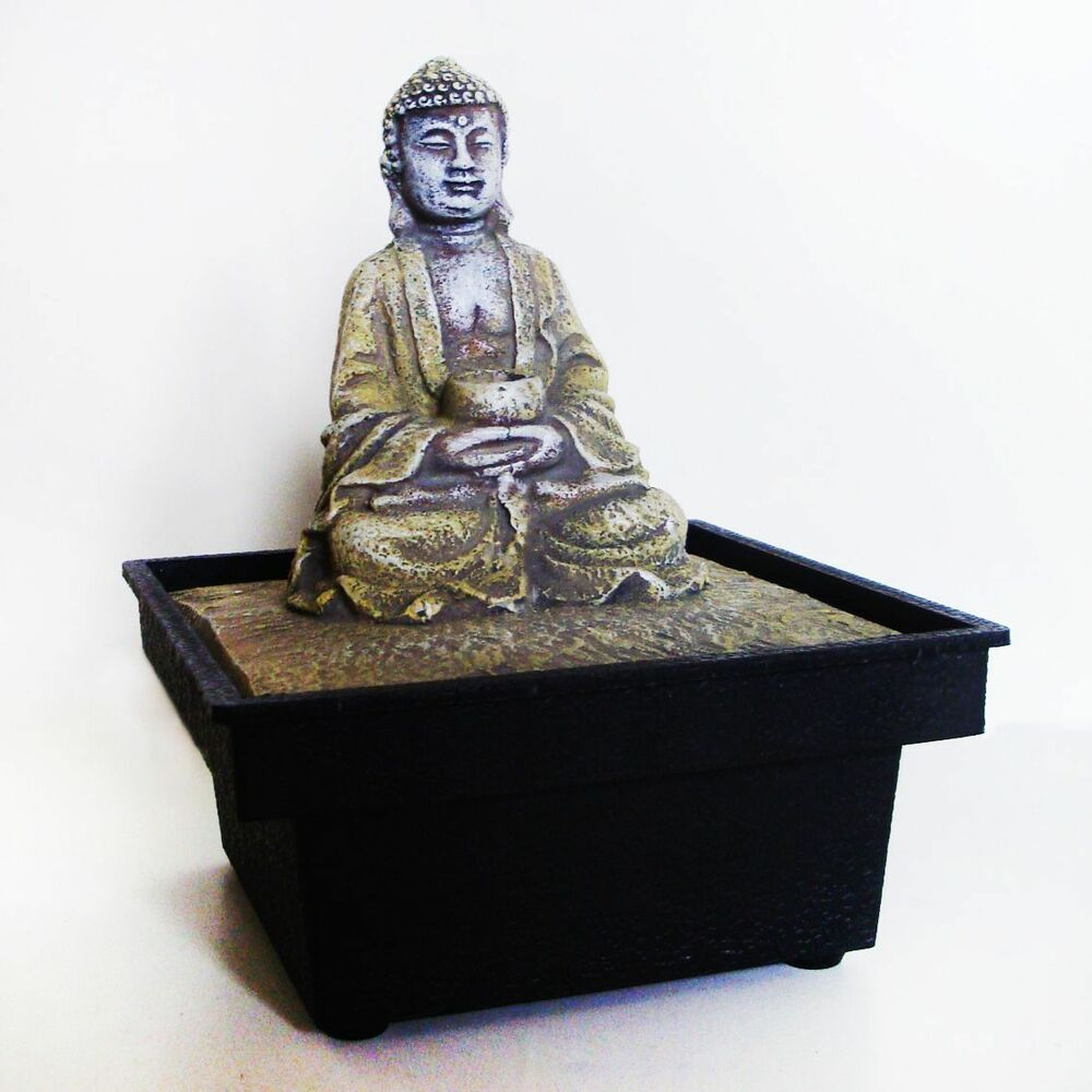 brunnen zimmerbrunnen buddha deko feng shui raumdeko ebay. Black Bedroom Furniture Sets. Home Design Ideas