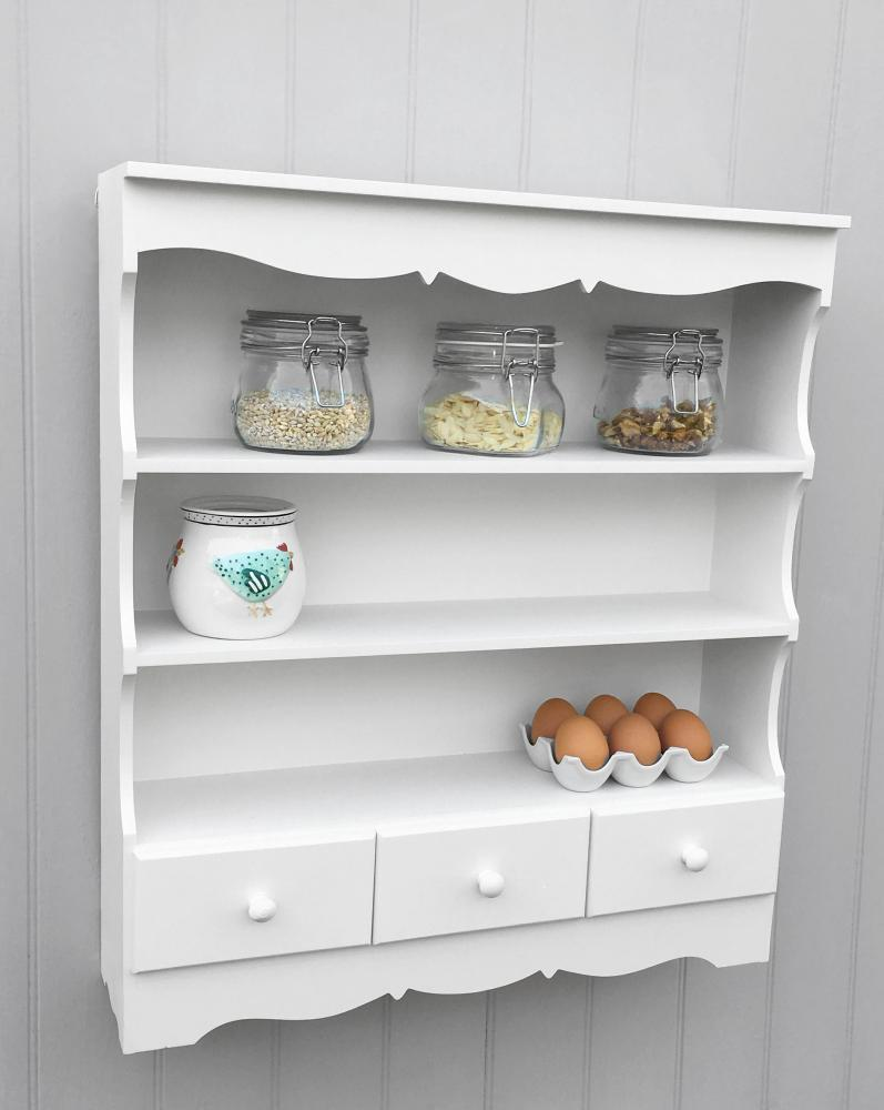 pretty shabby chic wall display unit shelving unit in. Black Bedroom Furniture Sets. Home Design Ideas