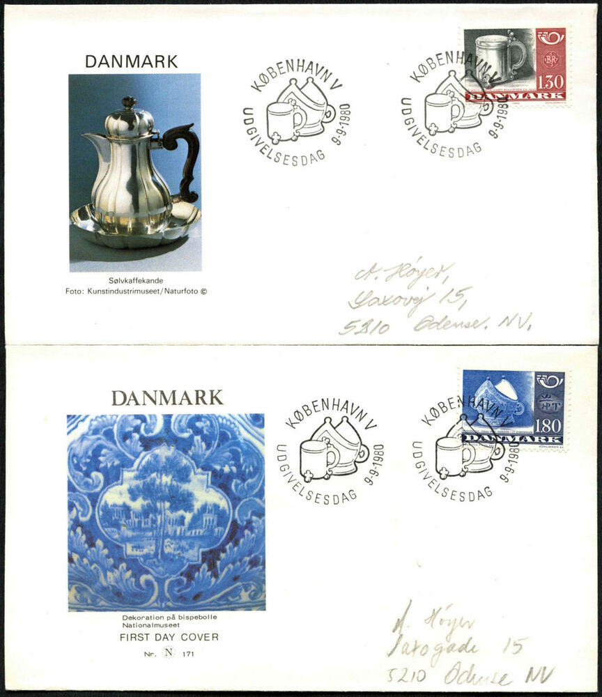 Denmark 1980 Nordic Countries Postal Co Op Fdc First Day Cover Set
