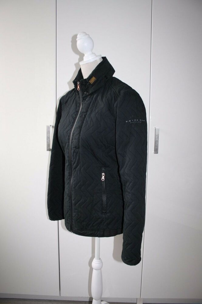 g star raw steppjacke jacke damen schwarz gr m 38 ebay. Black Bedroom Furniture Sets. Home Design Ideas