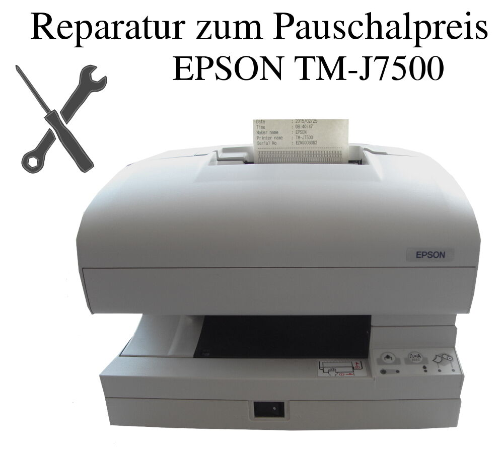reparatur service pauschalpreis epson tm j7500 apothekendrucker kassendrucker ebay. Black Bedroom Furniture Sets. Home Design Ideas