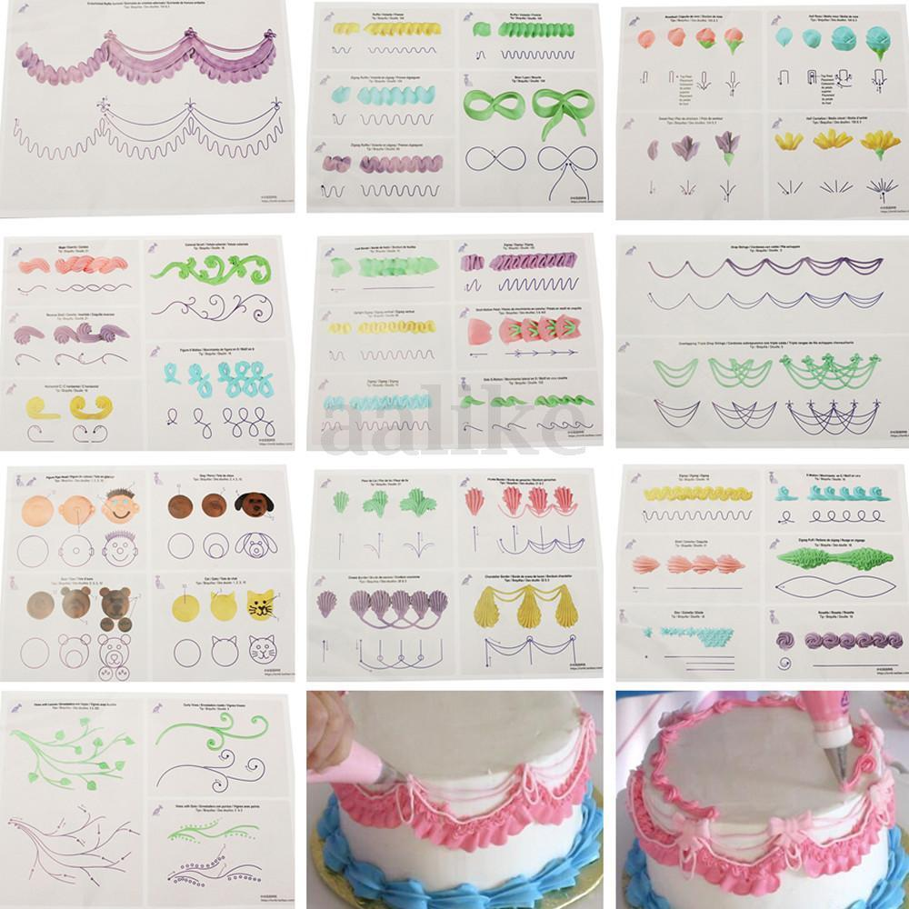 Cake Decorating Practice Template Board Icing Drawing