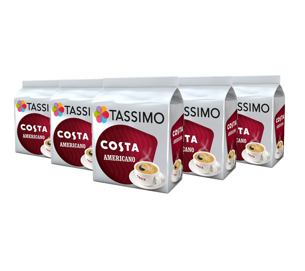 TASSIMO Costa Americano Coffee Capsules T-Discs Pack of 5, 80 Drinks | eBay