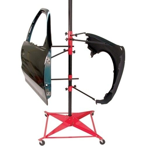 Auto body paint stand tree painting rack door hood fender for Stand auto