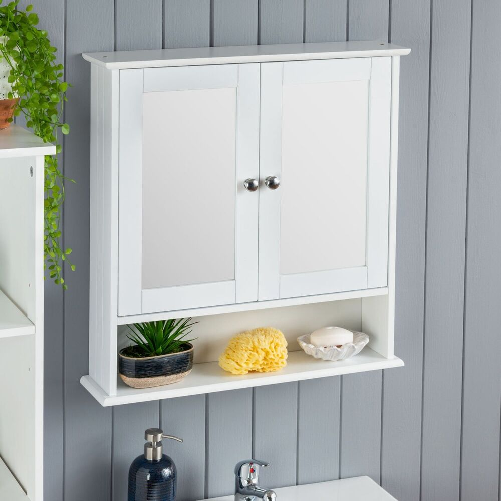 white mirrored bathroom wall cabinet white bathroom wall cabinet mirrored door wooden shelf 24668