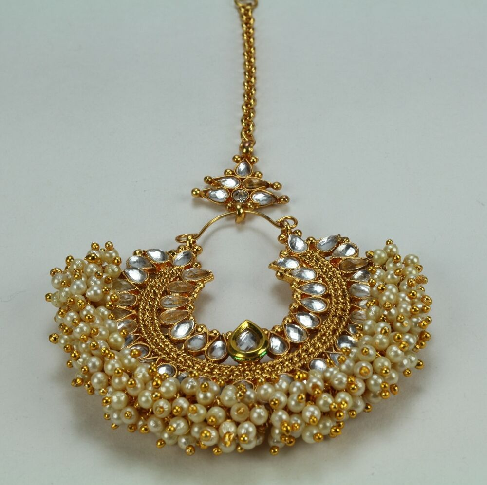 Indian Fashion Jewelry Gold Plated Wedding Bridal Fore