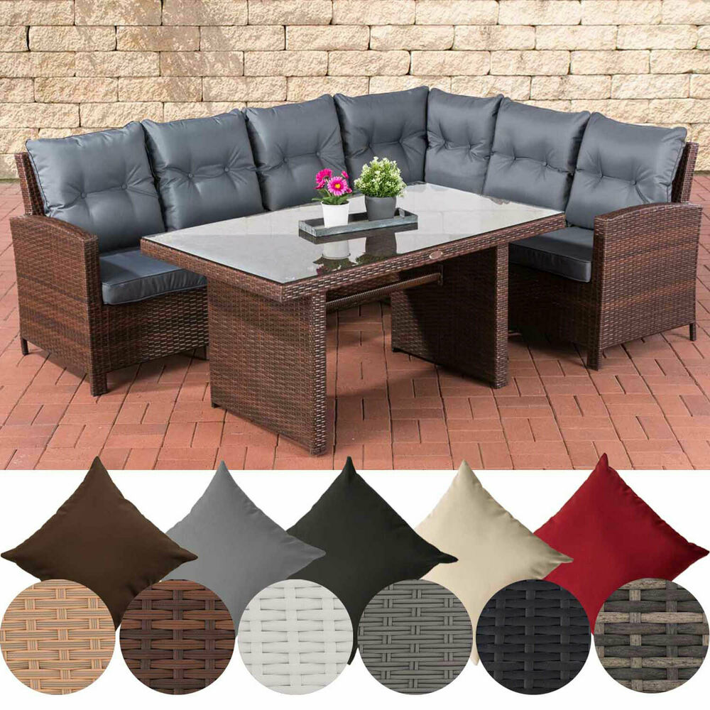 polyrattan gartengarnitur minari gartenset sitzgruppe lounge set rattanm bel ebay. Black Bedroom Furniture Sets. Home Design Ideas