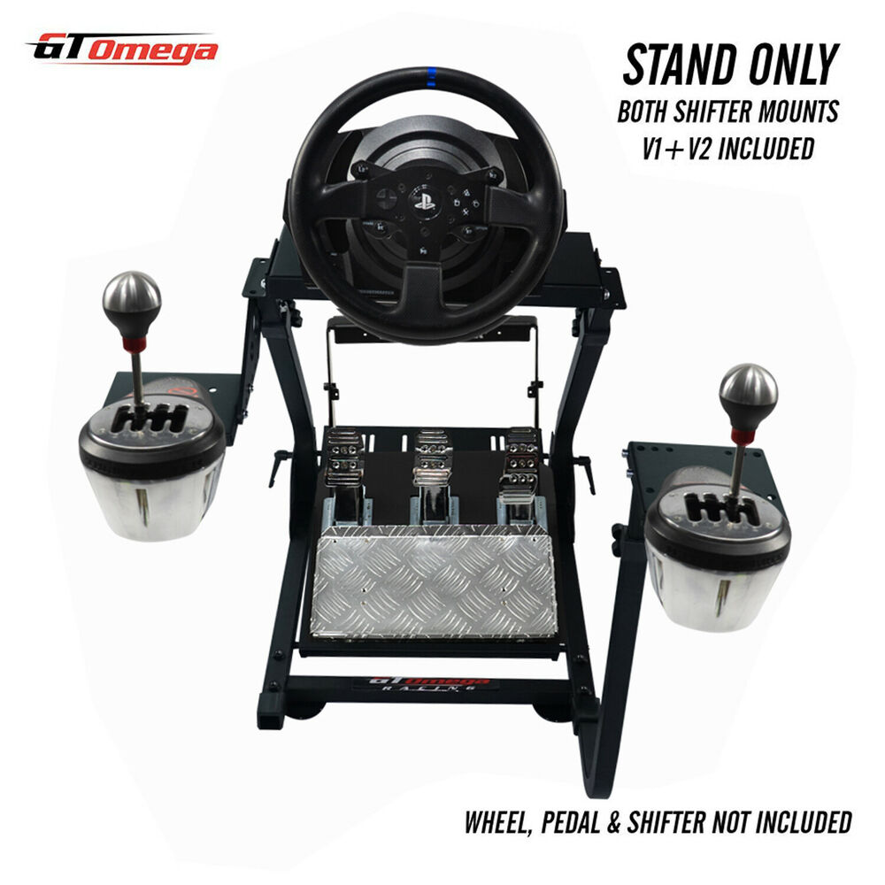 gt omega steering wheel stand pro for thrustmaster t300rs th8a shifter v2 ebay. Black Bedroom Furniture Sets. Home Design Ideas