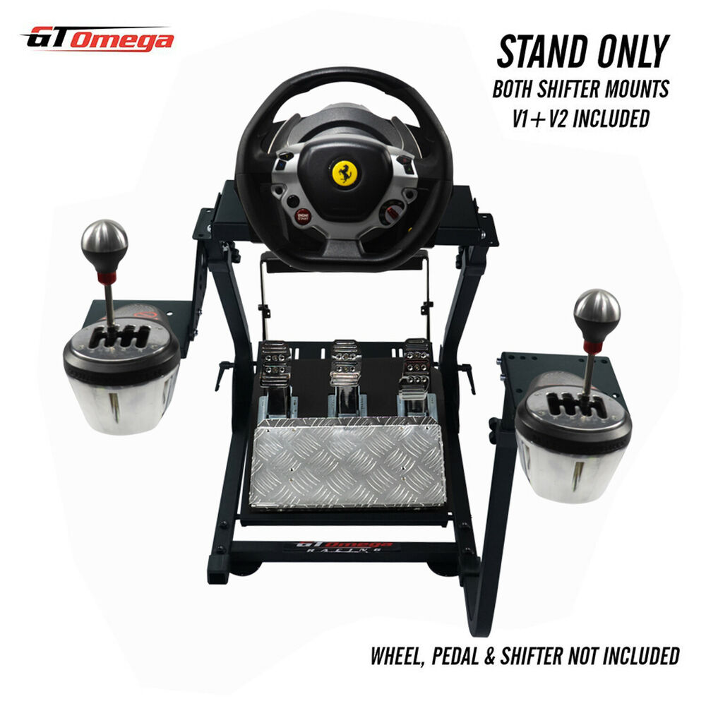 gt omega steering wheel stand for thrustmaster tx racing wheel th8a shifter pro ebay. Black Bedroom Furniture Sets. Home Design Ideas