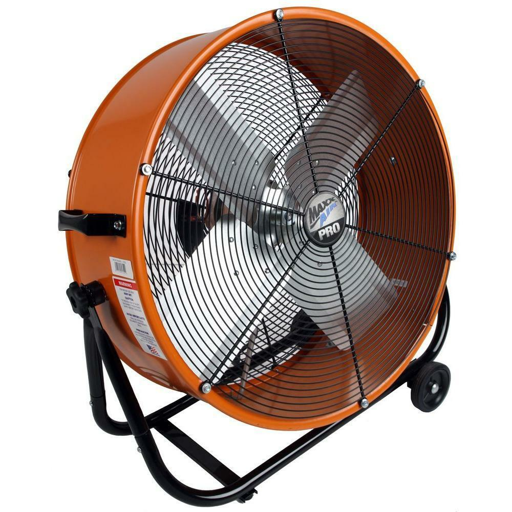 Portable Drum Fan : Maxxair portable quiet heavy duty garage shop