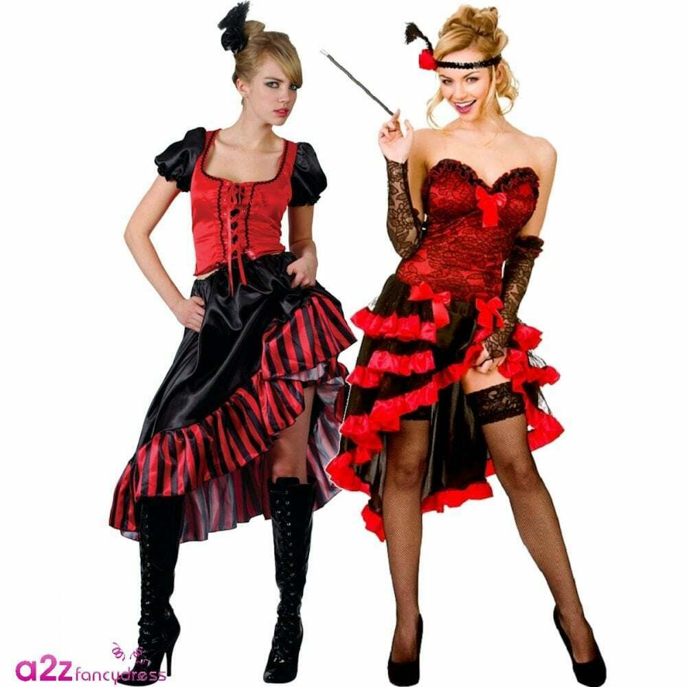 ladies sexy burlesque wild west showgirl can can moulin