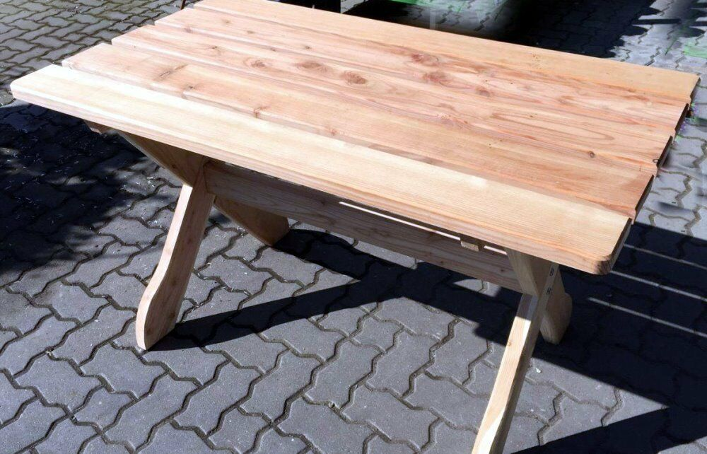 gartentisch l rche holztisch garten tisch 130 x 80 cm massiv m bel terrasse neu ebay. Black Bedroom Furniture Sets. Home Design Ideas
