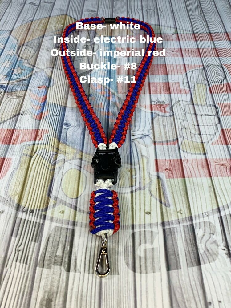 Paracord Lanyard 2 For 29 Custom You Pick 3 Colors And Hardware