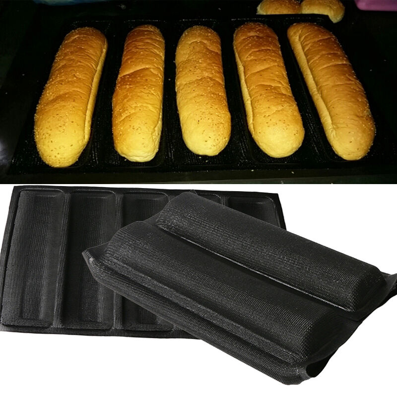 Silicone 5 Loaves Subway Bread Form Loaf Toast Cake Pan