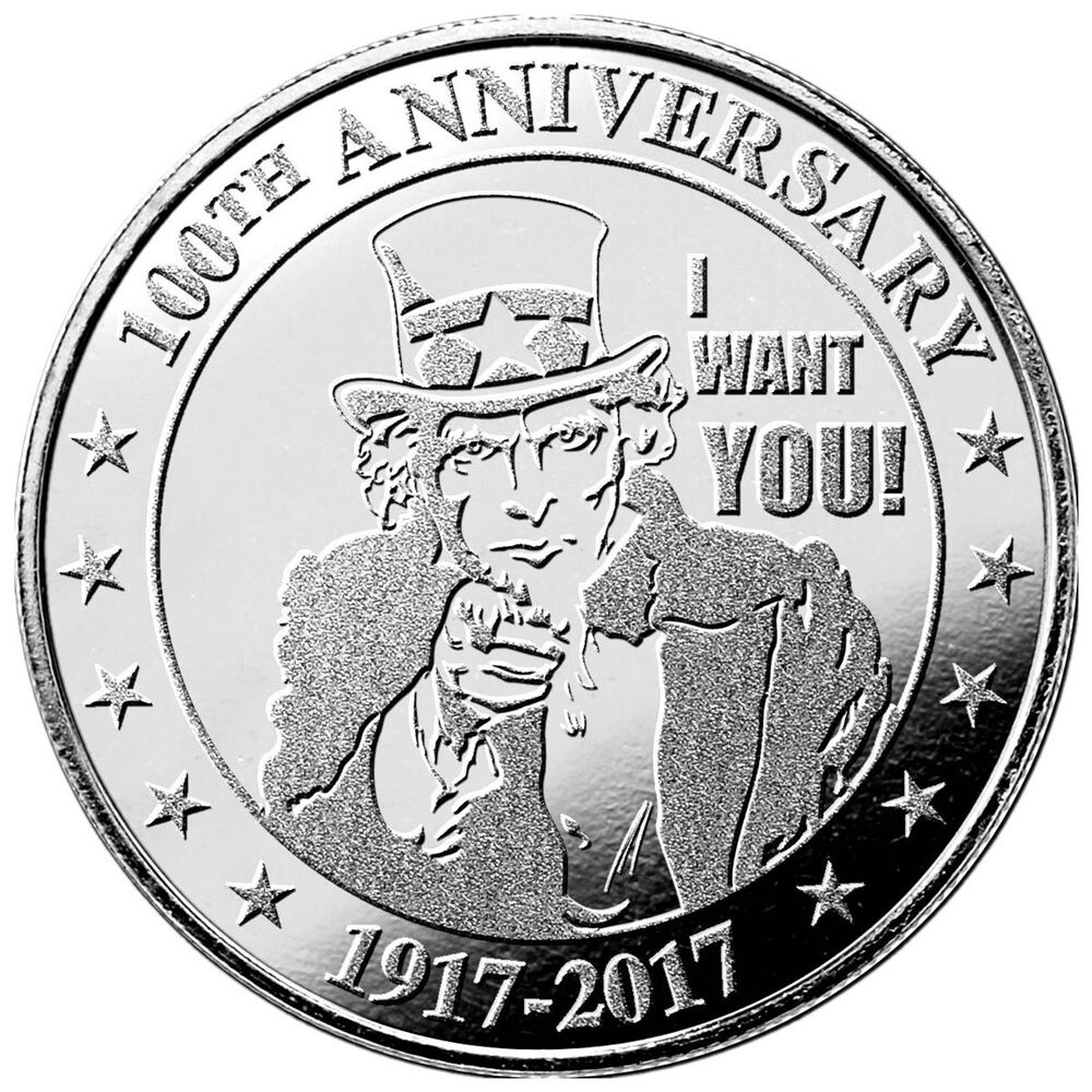 Highland Mint Uncle Sam Quot I Want You Quot 100th Anniversary 1oz