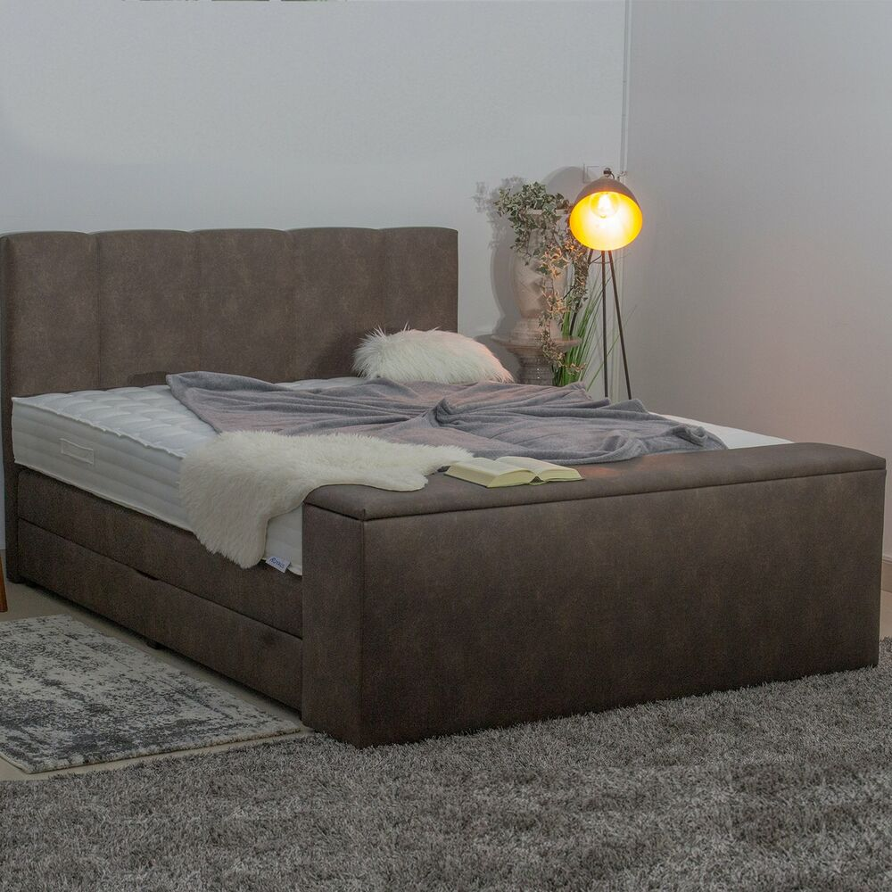 boxspringbett und bett truhe sitztruhe mit stauraum 160x200 180x200 alle gr en ebay. Black Bedroom Furniture Sets. Home Design Ideas