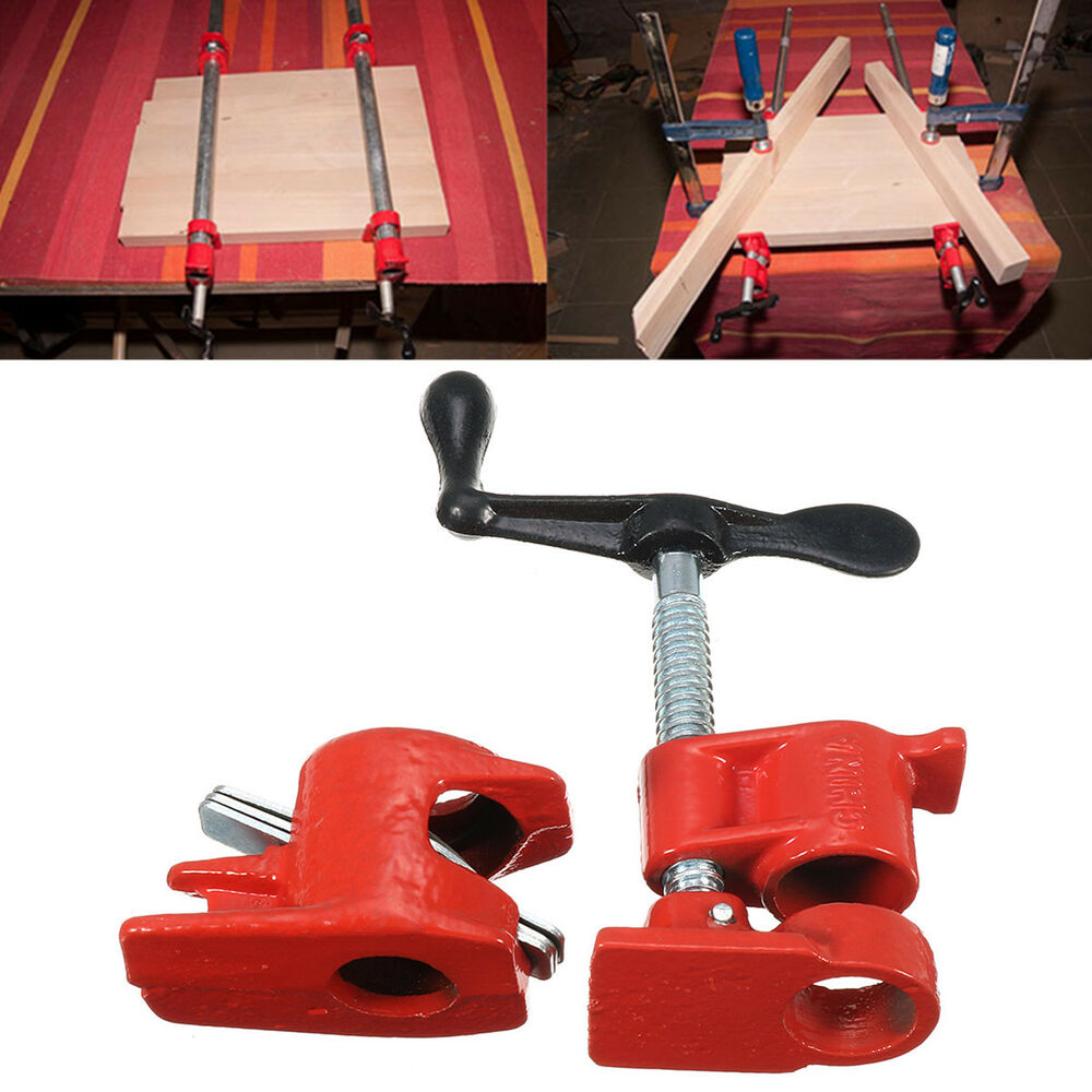 Heavy duty pipe clamp set kit for wood gluing quick