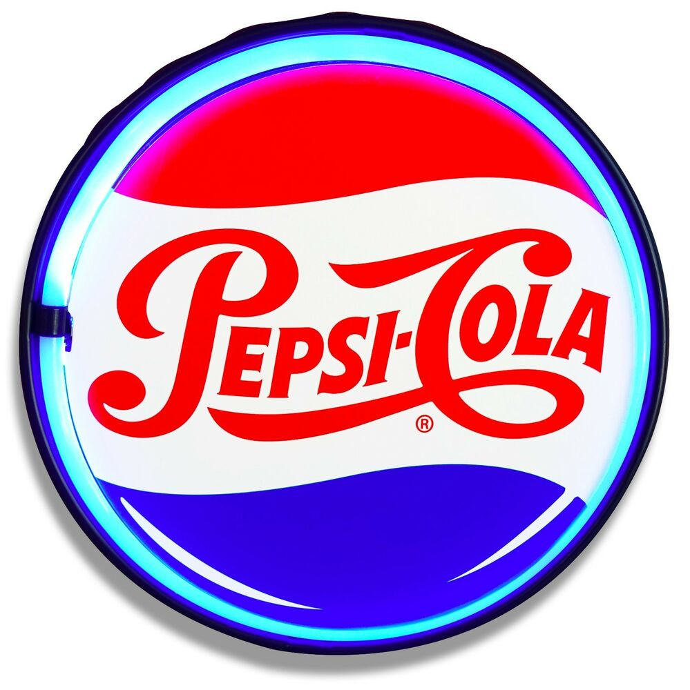 Pepsi Cola Led Neon Lighted Sign Retro Vintage Style