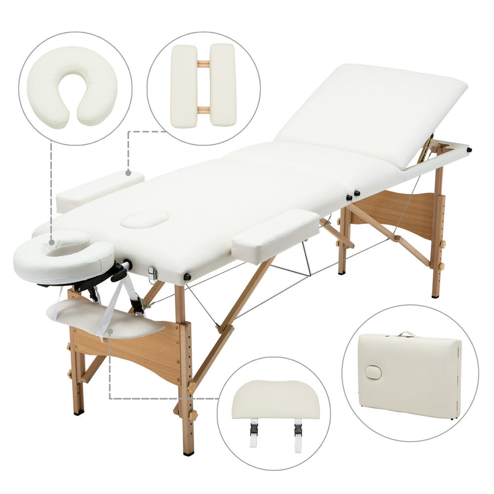 """Portable Massage Table Prices Portable Solar Power Station Uk Portable Outdoor Kitchen Uk 4tb Portable Hdd Price In Bangladesh: 3 Fold 84""""L Portable Massage Table Facial SPA Bed Sheet 2"""