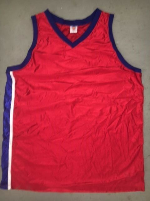 b09fd32e7f8e Authentic BLANK McDonald All American RED Blue Side Throwback Basketball  Jersey