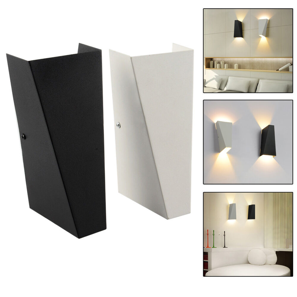 Led Wall Lights Indoor Uk: 10W Modern LED Wall Light Up Down Cube Indoor Outdoor