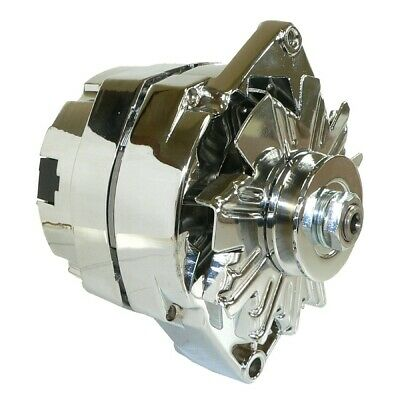 NEW ALTERNATOR CHROME BBC SBC CHEVY 110 AMP 1 WIRE HIGH OUTPUT ONE WIRE