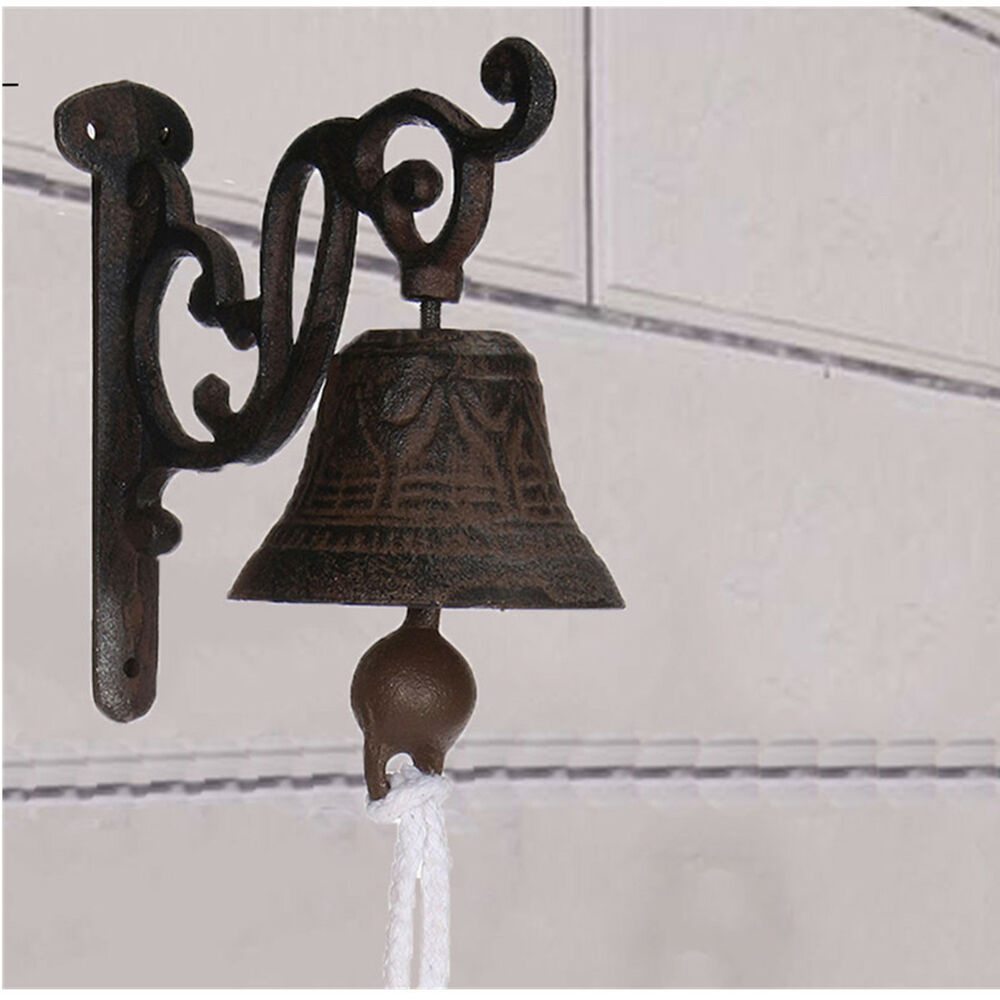 metal cast iron door bell wall mounted traditional