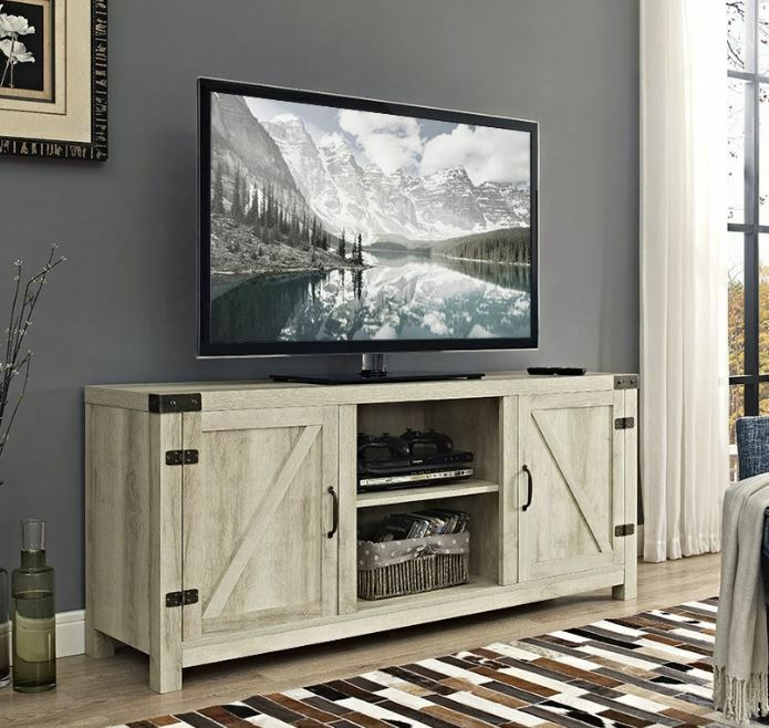 rustic tv stand flat screen console up to 65 wood farmhouse shabby chic white ebay. Black Bedroom Furniture Sets. Home Design Ideas