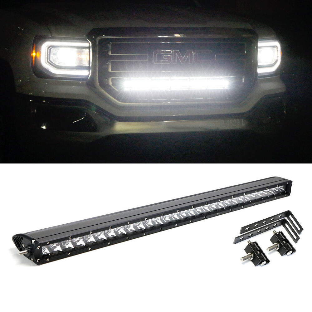 "150W 30"" CREE LED Light Bar w/Behind Grille Bracket ..."