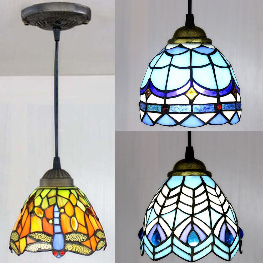 Stained Glass Tiffany Style Hanging Pendant Light Ceiling
