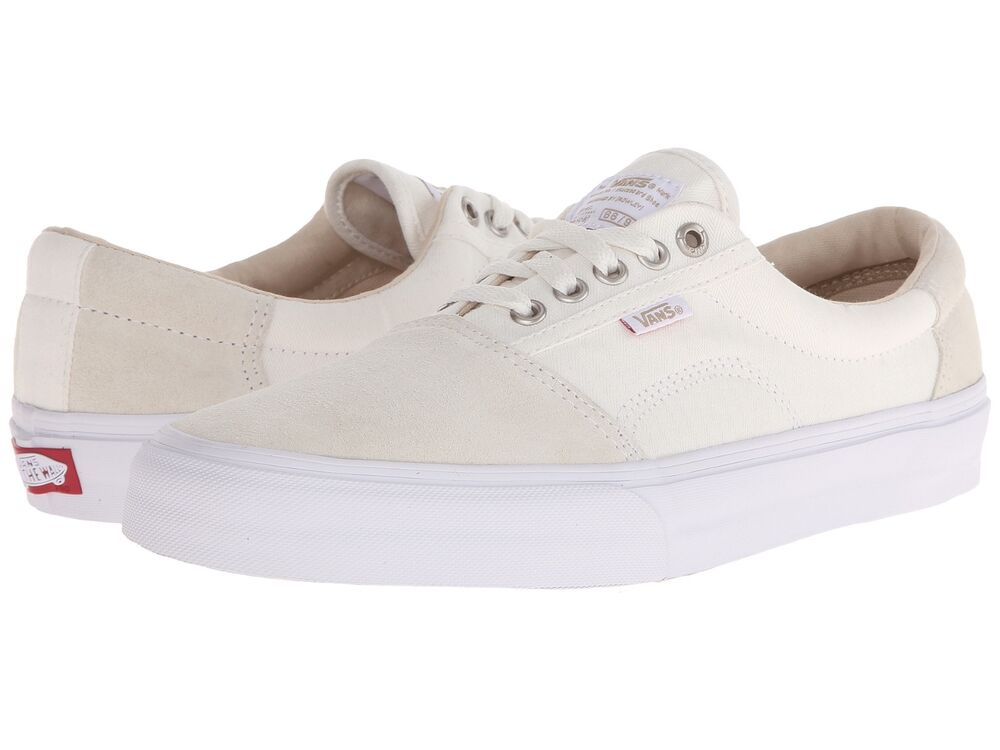 40812987f9 Details about VANS SHOES ROWLEY SOLOS HERRINGBONE WHITE Mens sz 7 SKATE SK8  NIB new NEW NIB