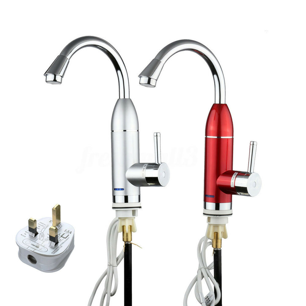 Electric 5s Fast Instant Faucet Tap Water Heater Hot Amp Cold