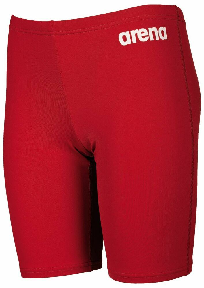 e99b79b8ce759 Arena Boys Solid Jammer- Junior Jammers- Red/White   eBay
