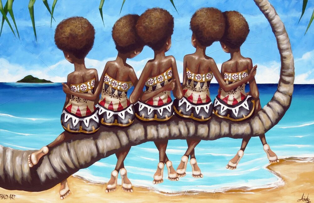 Kava bowl Painting at ArtistRising.com | My favorite Art ... |Fijian Artwork