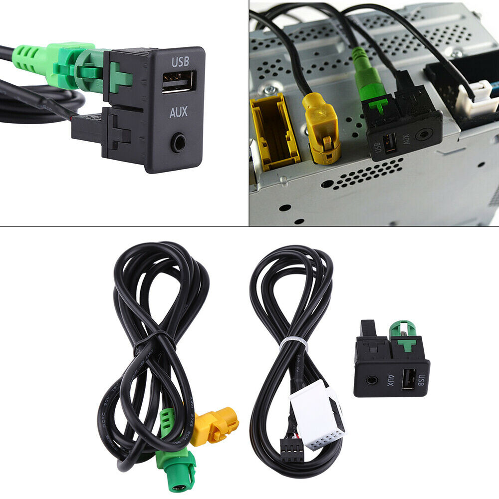 Aux Switch & USB Wire Cable Adapter TK For BMW 3 5 Series