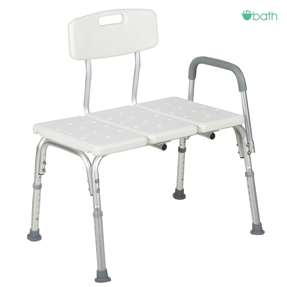 Adjustable Medical Shower Bench Chair Bath Tub Stool Seat