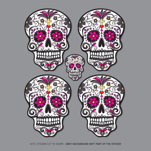Day Of The Dead - Calavera - Sugar Skull - Flower - Sticker - Decals/Stickers