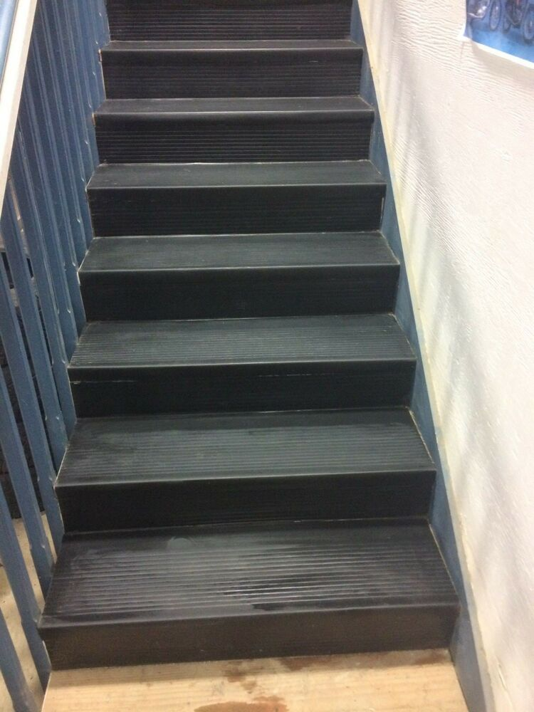 12 1 4 X 48 Roppe Black Rubber Stair Treads Ebay