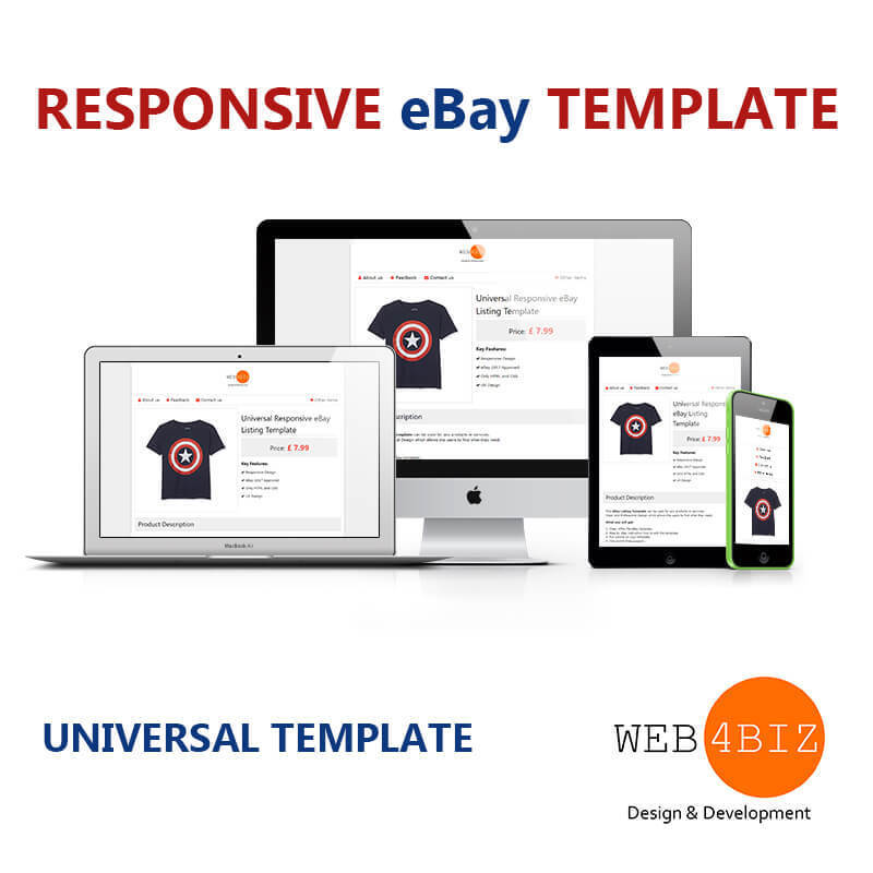 EBay Listing Template Auction HTML CSS Approve Universal - Ebay listing templates