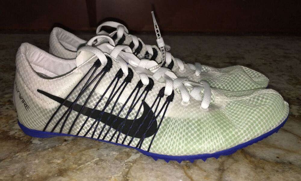 quality design e2362 1b045 Details about NIKE Victory Elite White Black Mid Distance Track Field Spikes  Men 5 6.5 7 7.5 8