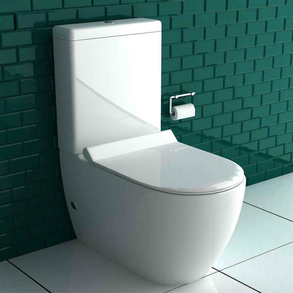 design stand wc mit taharet bidet toilette inkl sp lkasten geberit sp lgarnitur ebay. Black Bedroom Furniture Sets. Home Design Ideas