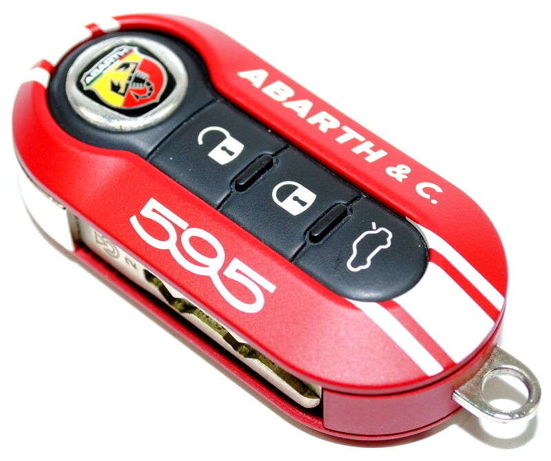 Fiat 500 595 Abarth & Co 50th Anniversary Key Cover RED