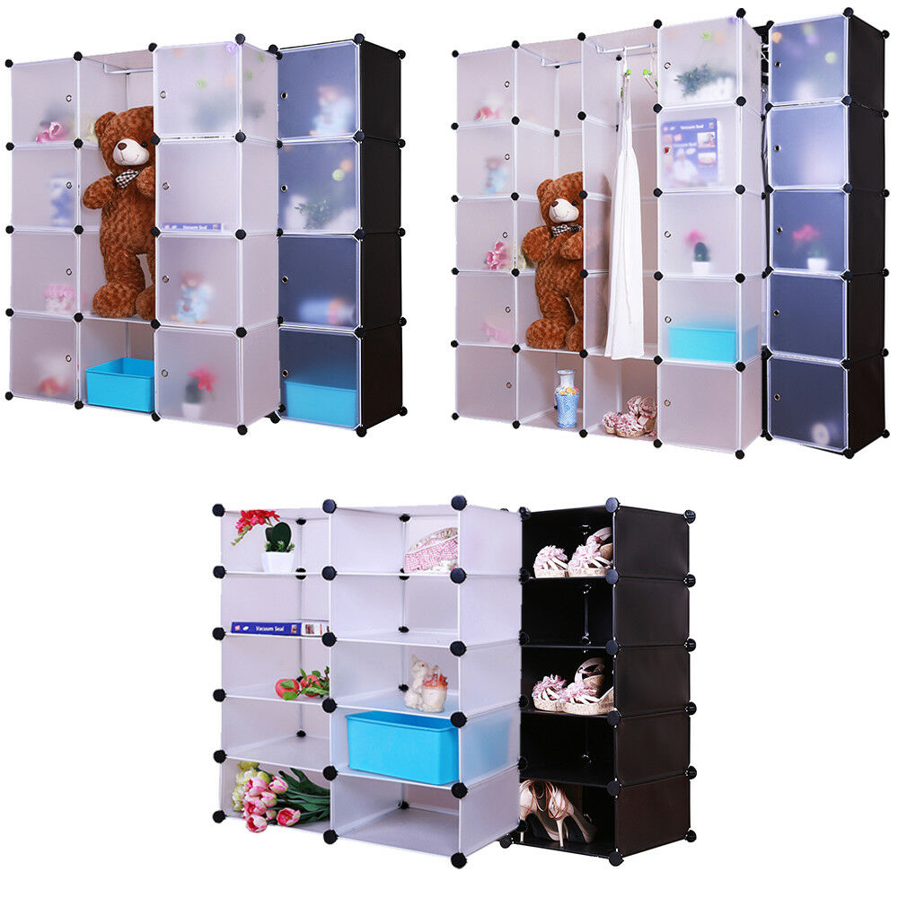 grafner kleiderschrank diy schrank regalsystem steckregal garderobe schuhregal ebay. Black Bedroom Furniture Sets. Home Design Ideas
