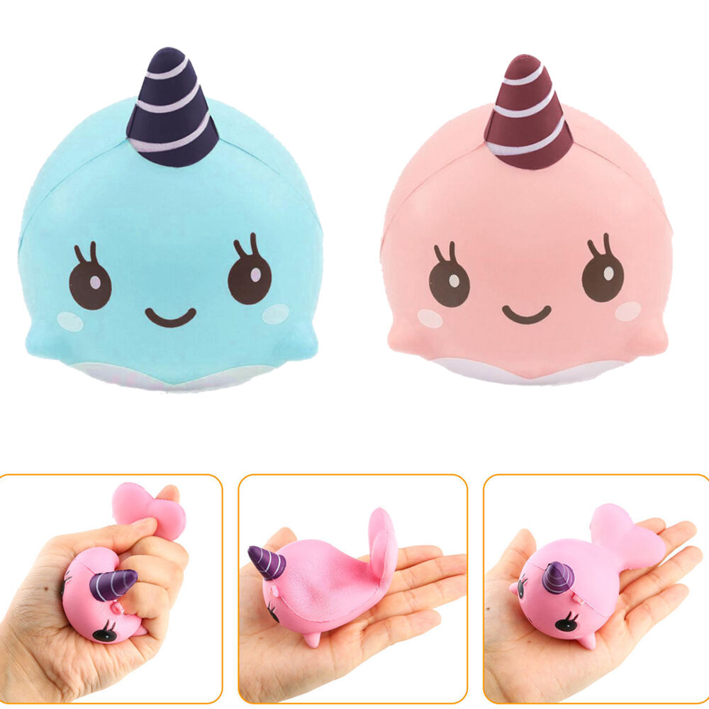 May Kawaii Squishy And Slime : Cute 9CM Soft Whale Cartoon Unicorn Squishy Slow Rising Squeeze Toy Phone Straps eBay