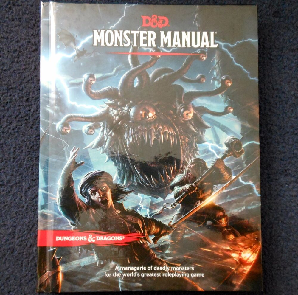 Monster Manual 5th Edition Advanced Dungeons & Dragons Core Rules Bestiary  D&D | eBay